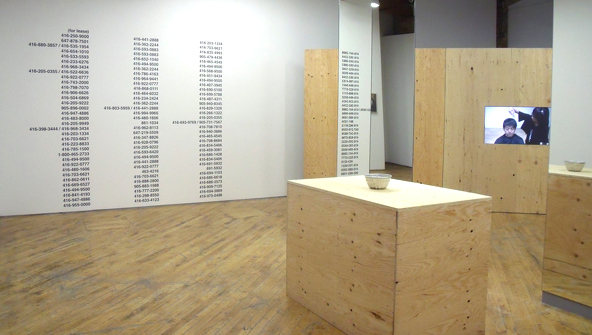 Koki Tanaka: Random Hours, Several Locations; Installation view